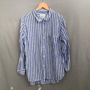 Rails striped linen shirt